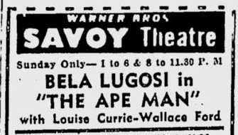 The Ape Man, The Sunday Morning Star, June 13, 1943 b