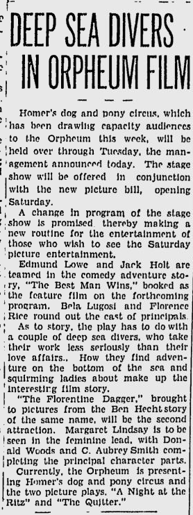 The Best Man Wins, Spokane Daily Chronicle, April 5, 1935