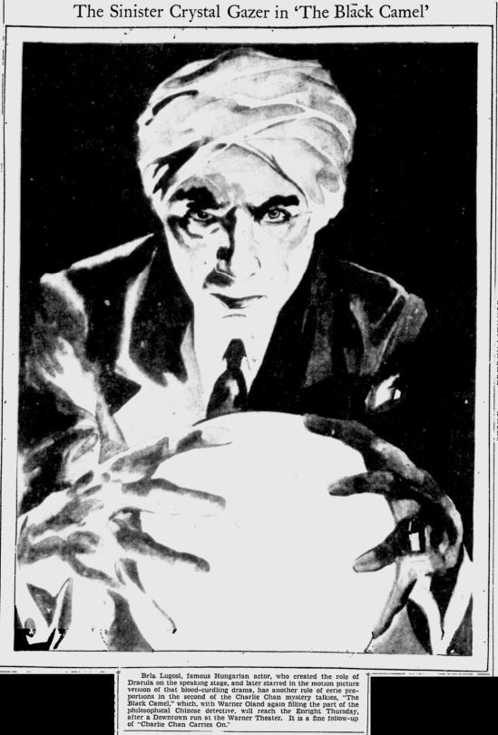 The Black Camel, The Pitsburgh Press, July 5, 1931