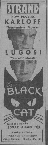 The Black Cat Courtesy of Vintage Cinema Ads httpswww.facebook.compagesVintage-Cinema-Ads245402522241405