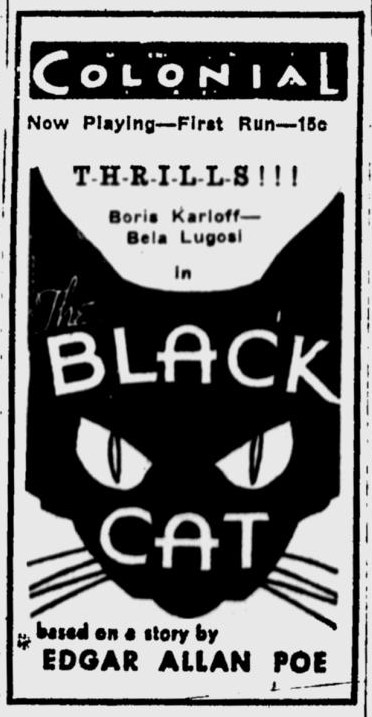 The Black Cat, Eugene Register-Guard, May 11, 1934 b