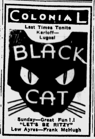 The Black Cat, Eugene Register-Guard, May 12, 1934