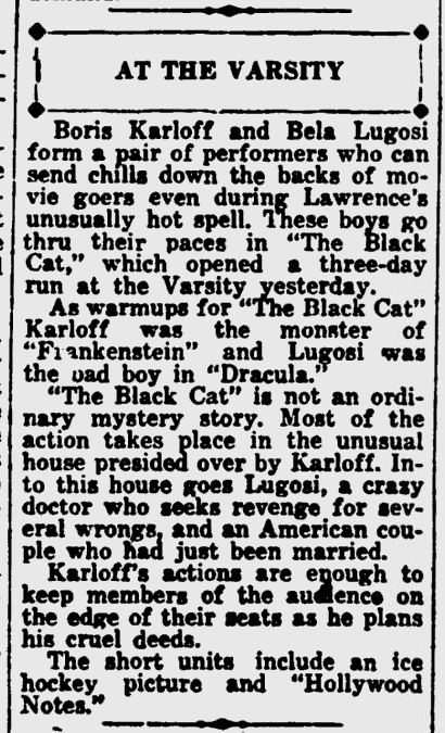 The Black Cat, Lawrence Journal-World, July 13, 1934