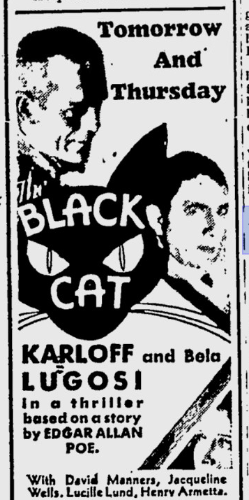 The Black Cat, Prescott Evening Courier, May 29, 1934