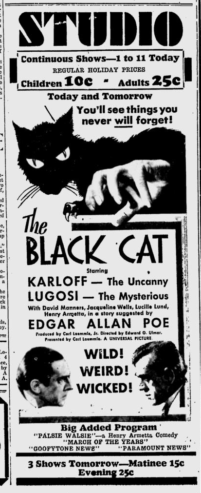 The Black Cat, Prescott Evening Courier, May 30, 1934