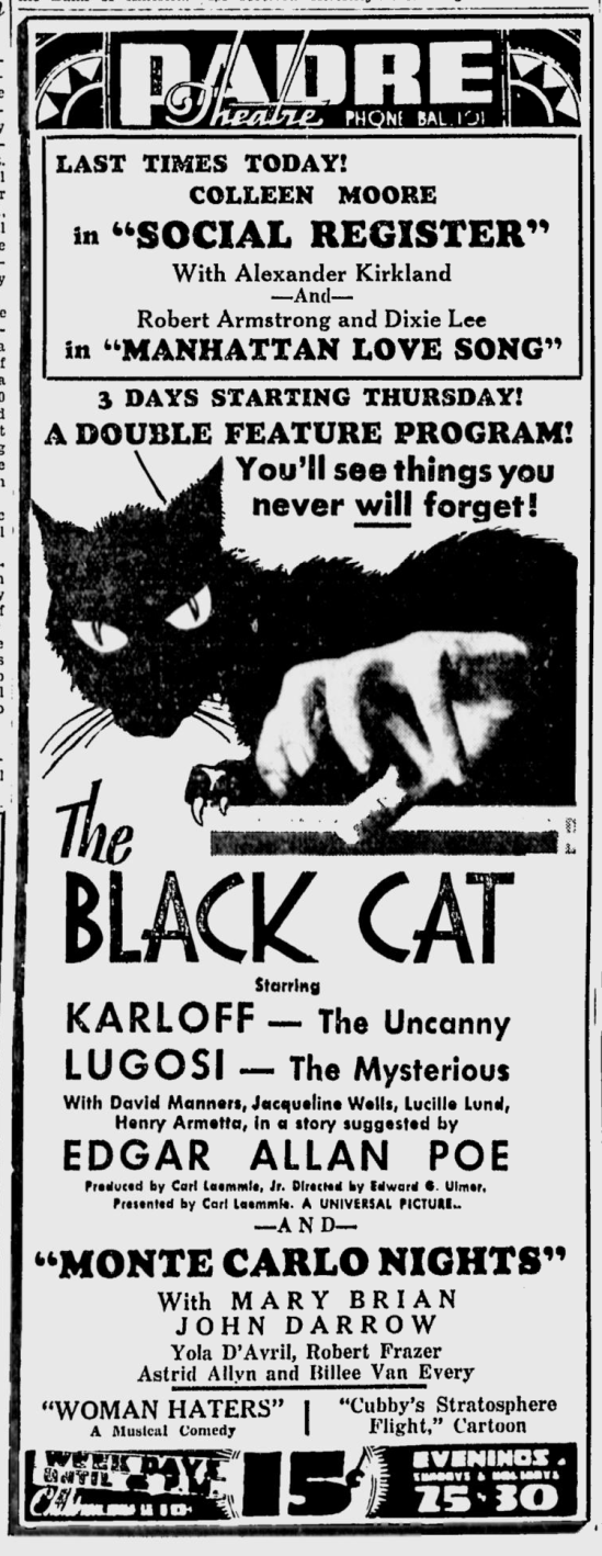 The Black Cat, San Jose News, May 16, 1934 b