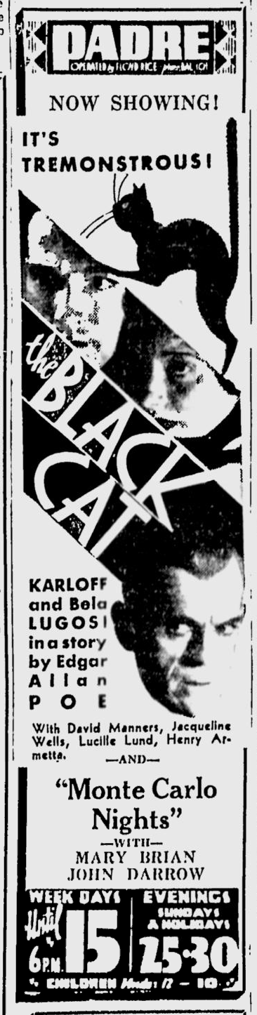 The Black Cat, San Jose News, May 17, 1934