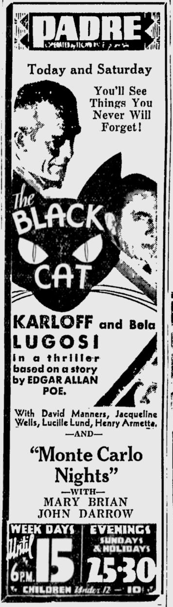 The Black Cat, San Jose News, May 18, 1934