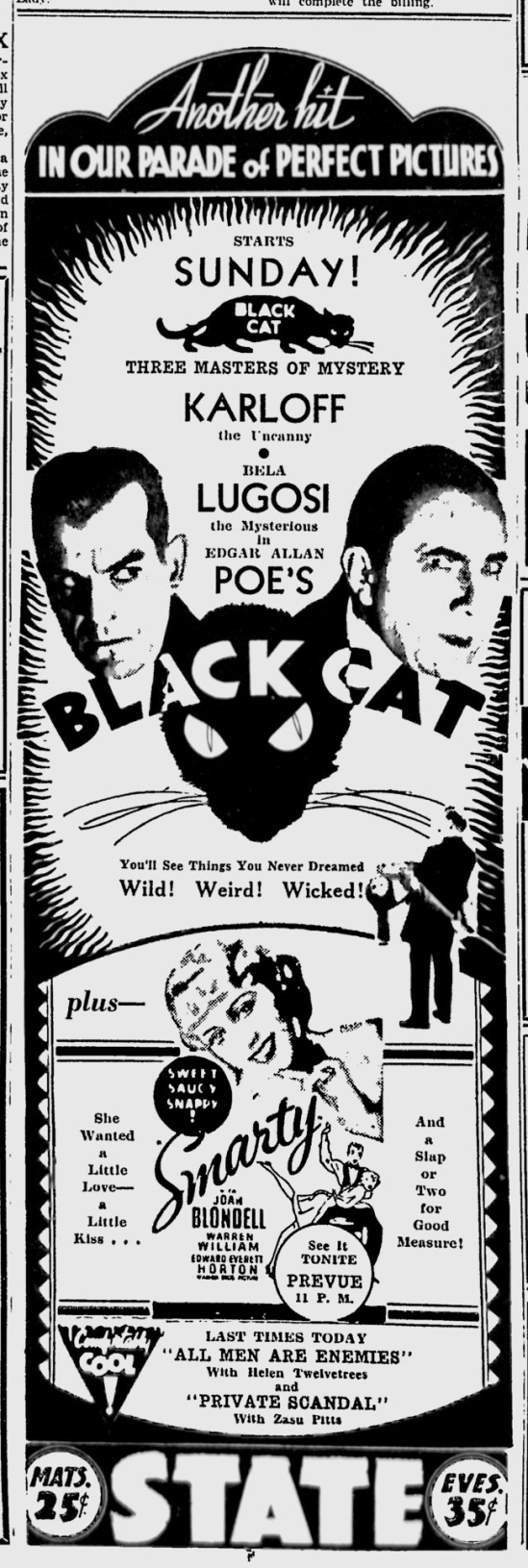 The Black Cat, Spokane, Daily Chronicle, June 16, 1934 b