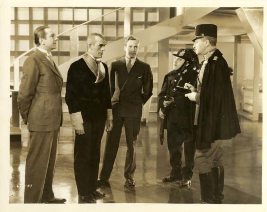 Bela Lugosi, Boris Karloff, David Manners, Henry Armetta and Albert Conti