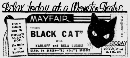 The Black Cat, The Miami News, June 1, 1934