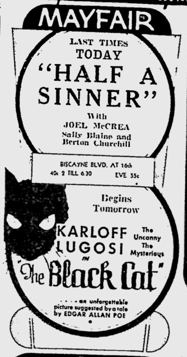 The Black Cat, The Miami News, May 30, 1934