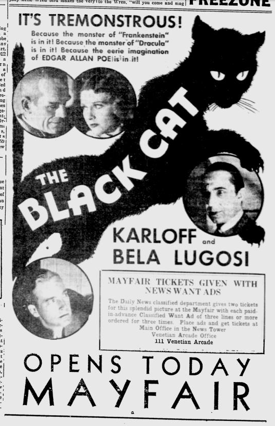 The Black Cat, The Miami News, May 31, 1934