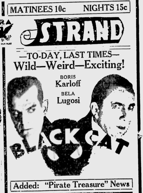 The Black Cat, The Owosso Argus-Press, June 11, 1934