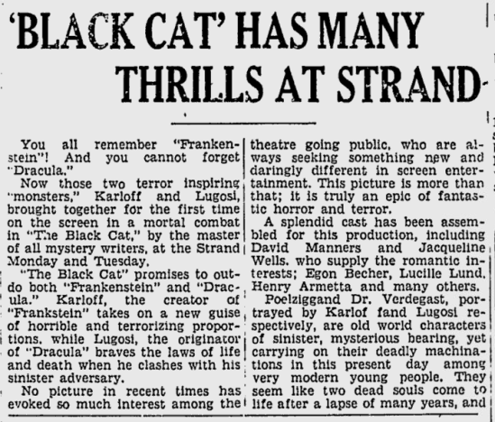 The Black Cat, The Sunday Spartanburg Herald-Journal, September 23, 1934 b