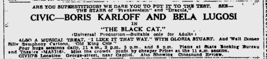 The Black Cat, The Sydney Morning Herald, August 1, 1934