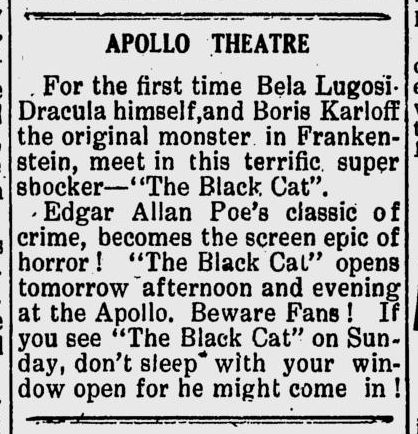 The Black Cat, The Virgin Islands Daily News, September 1, 1934