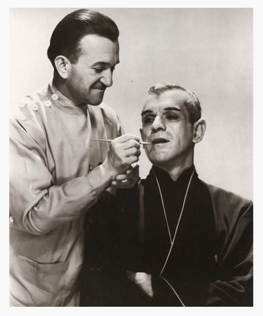The Black Cat - Jack Pierce and Boris Karloff