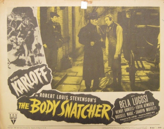 The Body Snatcher 1952 re-release Lobby Card 2