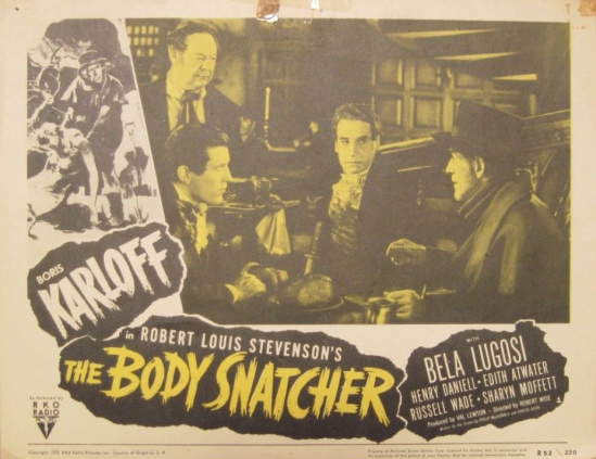 The Body Snatcher 1952 re-release Lobby Card 3