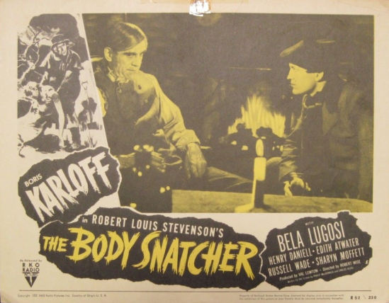 The Body Snatcher 1952 re-release Lobby Card 4