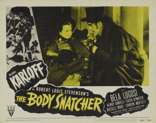 The Body Snatcher 1952 Re-release Lobby Card