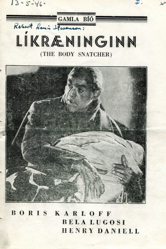 The Body Snatcher Icelandic Programme