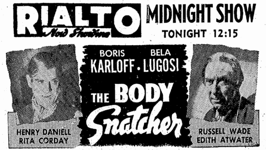The Body Snatcher, Idaho Statesman, June 16, 1945