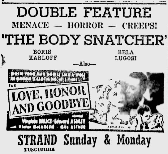 The Body Snatcher, Times Daily, April 18, 1946