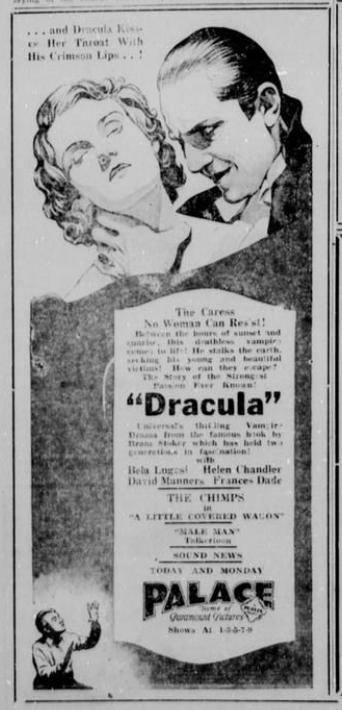 Dracula, The Breckenridge American (Breckenridge, Tex), April 26, 1931