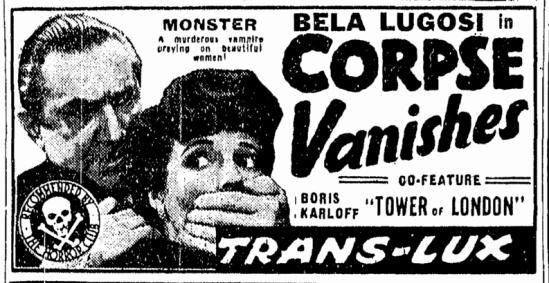 The Corpse Vanishes, Boston Traveler , May 16, 1942 2