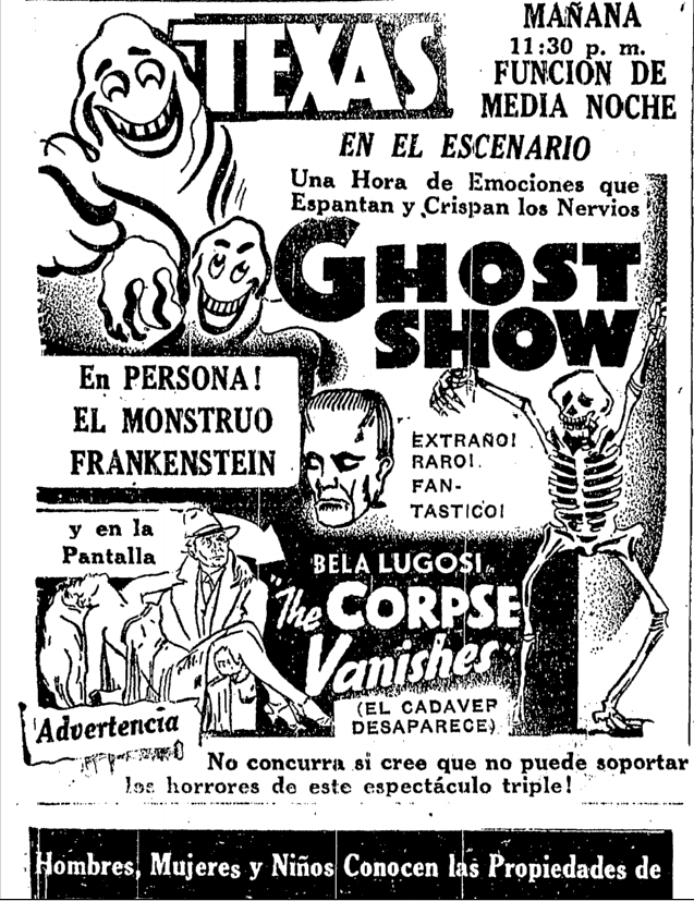 The Corpse Vanishes, Prensa, June 19, 1942