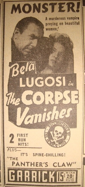 The Corpse Vanishes, St. Paul Pioneer Press June 21 1942