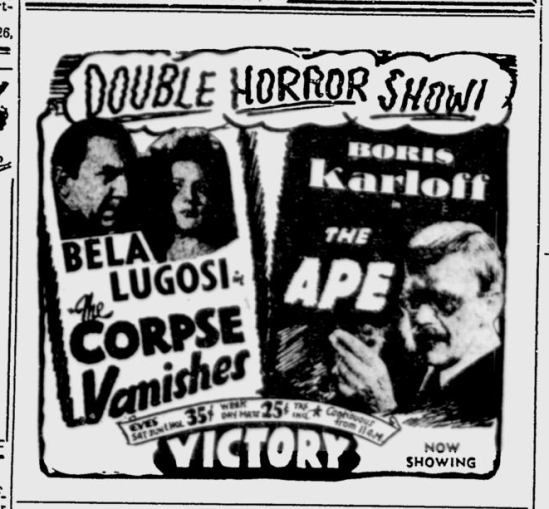 The Corpse Vanishes, The Montreal Gazette - Oct 22, 1943