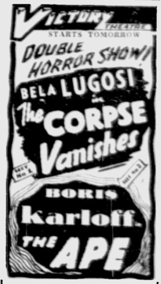 The Corpse Vanishes, The Montreal Gazette, October 21, 1943