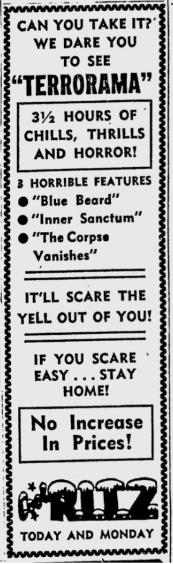 The Corpse Vanishes, The Tuscaloosa News, June 16, 1957