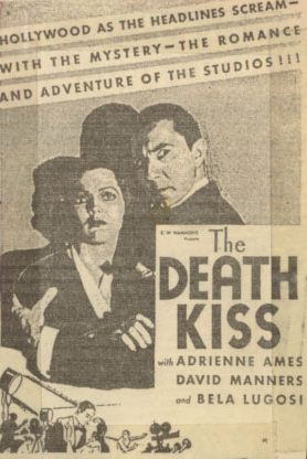 The Death Kiss Newspaper Ad