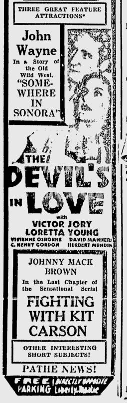 The Devil's in Love, San Jose Evening News, December 9, 1933 b