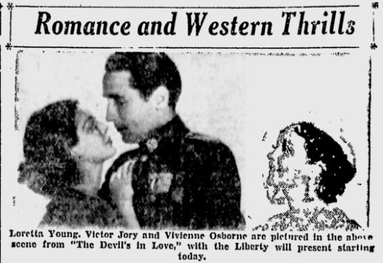 The Devil's in Love, San Jose Evening News, December 9, 1933