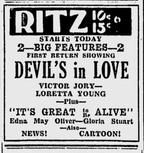 The Devil's in Love, Spokane Daily Chronicle, January 25, 1934