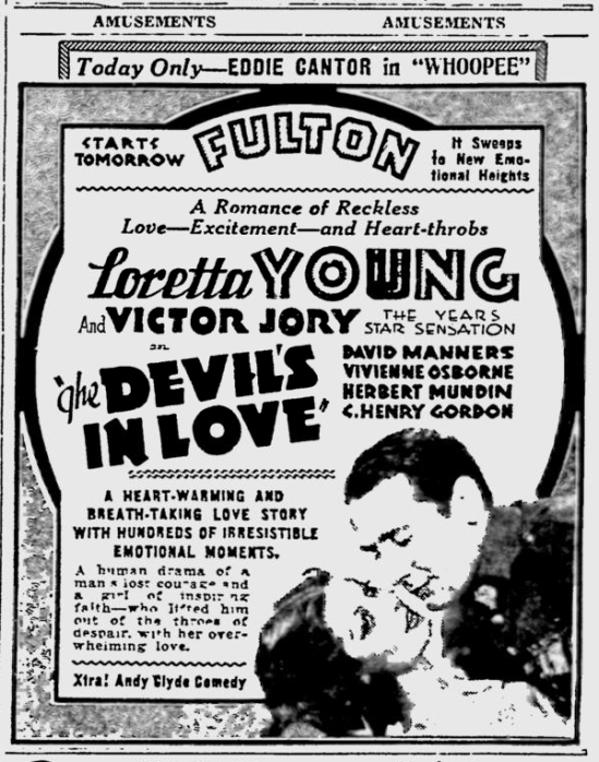 The Devil's in Love, St. Petersburgh Press, August 15, 1933