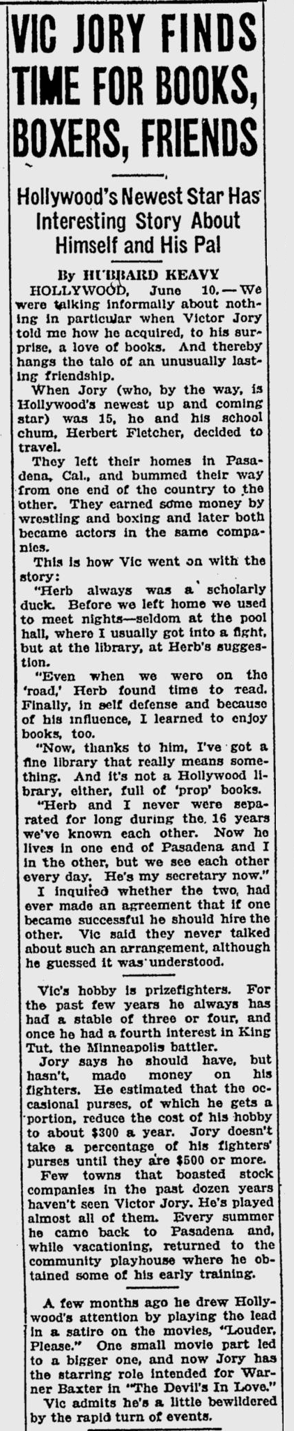 The Devil's in Love, St. Petersburgh Times, June 11, 1933
