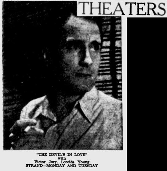 The Devil's in Love, The Sunday Spartanbug Herald-Journal, October 22, 1933