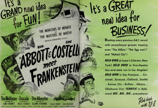 アボットとコステロミートフランケンシュタインザ·フィルム速報1948年8月18日