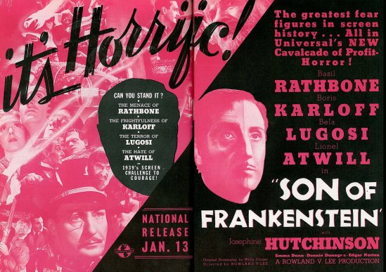 Son of Frankenstein The Film Daily December 9, 1938