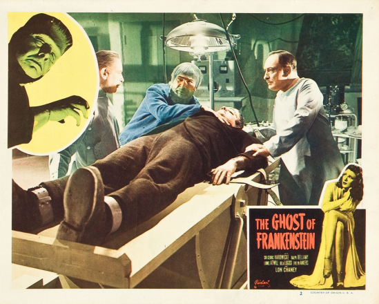 The Ghost of Frankenstein 1948 Re-Release Lobby Card 2