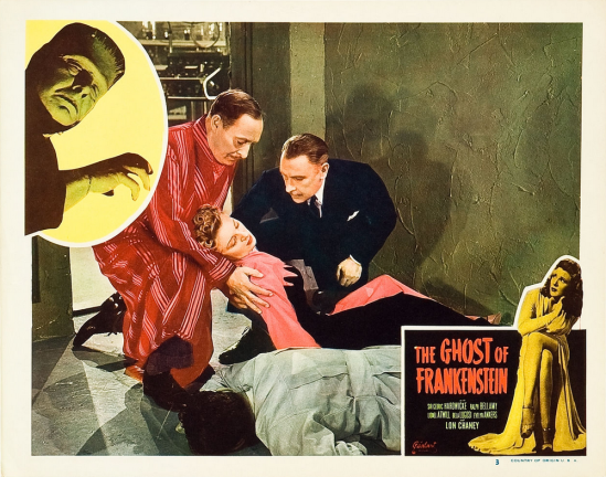 The Ghost of Frankenstein 1948 Re-Release Lobby Card 3