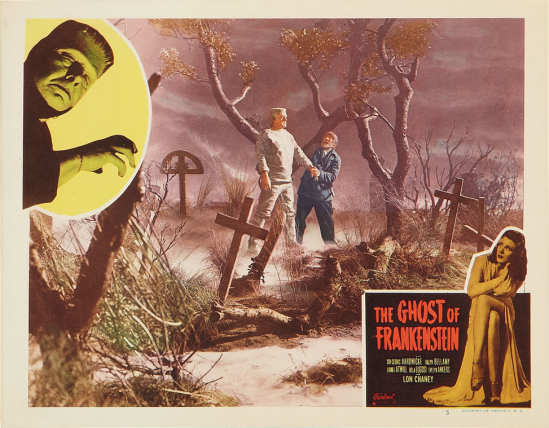 The Ghost of Frankenstein 1948 Re-Release Lobby Card 5