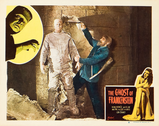 The Ghost of Frankenstein 1948 Re-Release Lobby Card