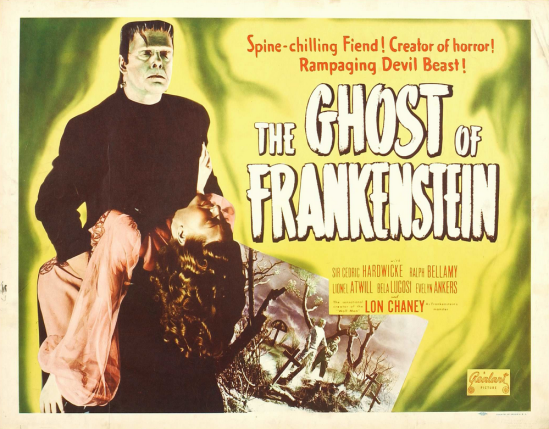 The Ghost of Frankenstein 1950 Re-Release Half Sheet